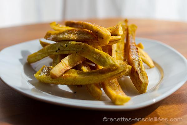 Fritures de banane plantain verte